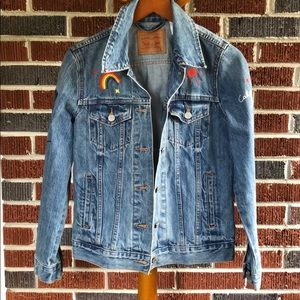 Anthropologie Levi's Jean Jacket Size Small